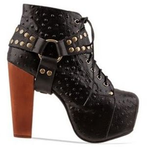 Jeffrey Campbell Ostrich Leather Harness Litas